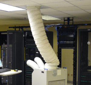 Portable Air Conditioner in Server Room.